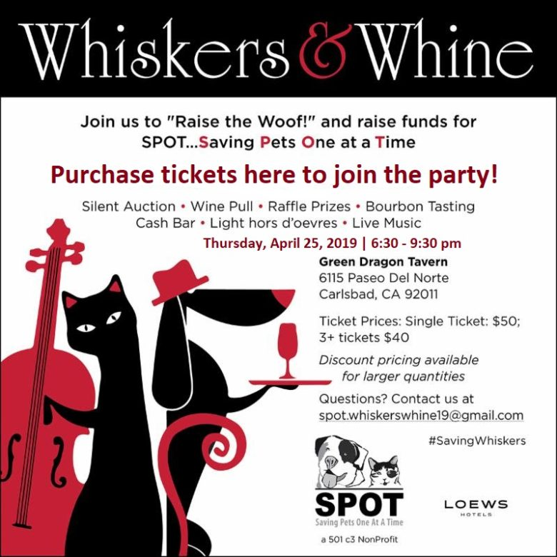 Save the Date! Whiskers and Whine Fundraiser!